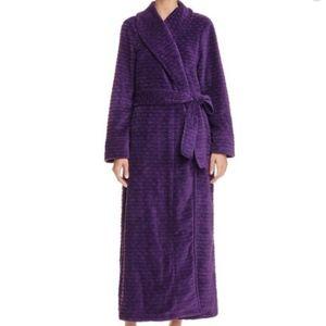 NWT Oscar De La Renta Pink Label Long Plush Robe